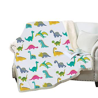 3D colorful cartoon dinosaurs blanket Polyester multi-purpose blanket high-quality
