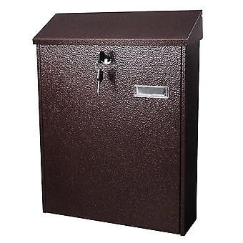 Yescom Large Wall Mount Steel Mail Box Lockable Letterbox w/ Retrieval Door & 2 Keys Home Post Security Outdoor