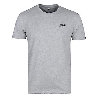 Alpha Industries Basic Grey Logo T-Shirt