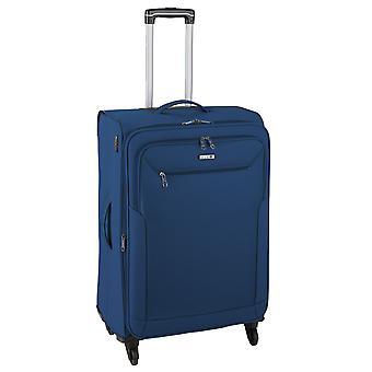d&n Línea de viaje 6804 Carro M, 4 ruedas, 66 cm, 63 L, Azul