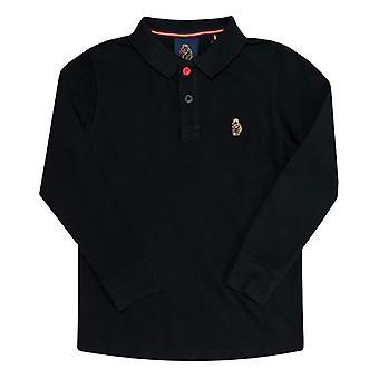 Boy's Luke 1977 Junior Williams Long Sleeve Polo Shirt in Black