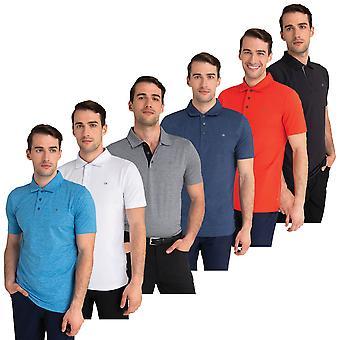 Calvin Klein Mens 2021 Breeze Moisture Wicking Lightweight Polo Shirt