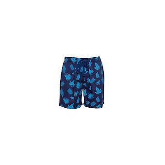Cyberjammies Dylan 6511 Men's Blue Mix Palm Leaf Print Pyjama Short