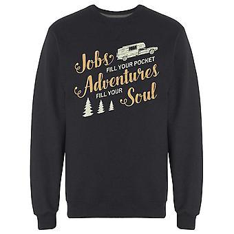 Adventures Fyll din soul design sweatshirt men & apos; s-bild av Shutterstock