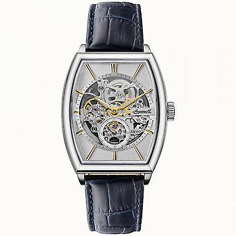 Ingersoll The Producer Automatic Silver Dial Blue Leather Strap Men's Watch I09701