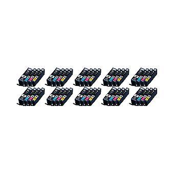 RudyTwos 10 x korvaa Canon SMM-550 + CLI-551 muste yksikkö HighYieldBlackPhotoBlackCyanYellow/Teachers & Magenta yhteensopiva Pixma iP7250, iP8750, iX6850, MG5450, MG5550, MG6350, MG6450, MG7150, MX725, MX92
