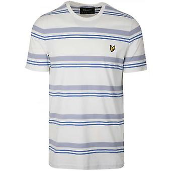 Lyle & Scott Cream & Blue Striped T-Shirt
