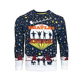 Official The Beatles Christmas Jumper / Ugly Sweater