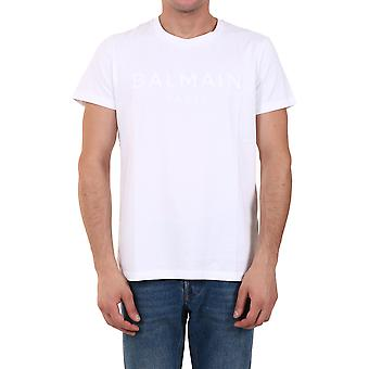 Balmain 1601i3640fa Män's White Cotton T-shirt