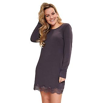 LingaDore 5610-268 Women's Iron Grey Lace Details Nightdress