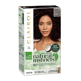 Clairol Natural Instincts Conditioning Colour Hair (28 Shampoos) Burgundy Black 2RV Blackberry