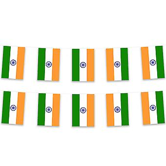 Pack of 3 India Bunting 15m Polyester Fabric Cricket Sport Country