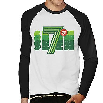 7UP Retro Seven Logo Men's Baseball Long Sleeved T-Shirt