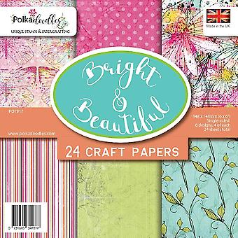 Polkadoodles Bright & Beautiful 6x6 Inch Paper Pack