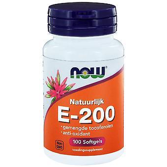 E-200 gemengde tocoferolen (100 softgels) - NOW Foods