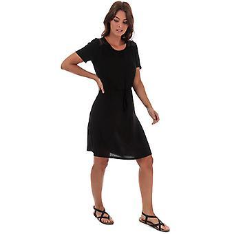 Women's Jacqueline de Yong Summer Lace Trim Dress in Black