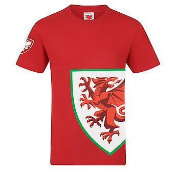 Pays de Galles Cymru FAW Officiel Football Gift Mens Graphic T-Shirt