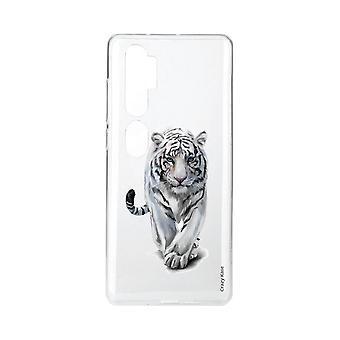 Coque Pour Xiaomi Mi Note 10 Souple Tigre Blanc