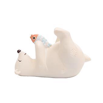 Polar Bear Standing Resin Ornament Cartoon Decoration