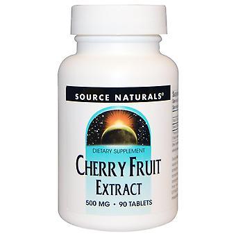 Fuente Naturales, Extracto de fruta de cerezo, 500 mg, 90 tabletas