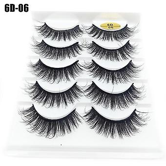 Faux Mink Hair False Eyelashes Wispy Criss Fluffy Thick Natural Handmade Lash Cruelty