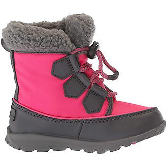 Kids Sorel Girls Youth whitney carnival Ankle Pull On Snow Boots