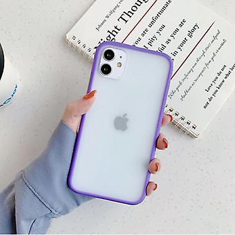 Stoff zertifiziert® iPhone XR Stoßstange Fall Fall Abdeckung Silikon TPU Anti-Shock lila