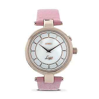KYBOE Lago Rosa Mother of Pearl Dial LED Watch - 100M Water Resistance