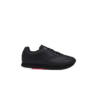 Tommy Hilfiger Corporate Leather Trainer Black