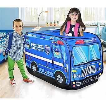 Game House Play Tent Fire Truck Police Bus Foldable Pop Up Toy - Playhouse