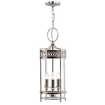 Elstead Guildhall - 3 Light Loft Lantern Vedhæng Poleret Nikkel, E14
