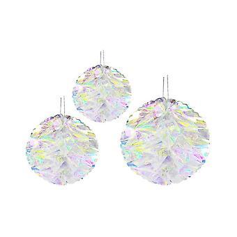 6PCS arco iris bola de flores casa bodas colgando decoración