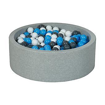 Boks kulowy 90 cm z 450 kulkami biały, szary i jasnoniebieski