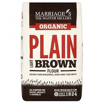 W & H MARRIAGE & SON - Organic Light Brown Plain Flour