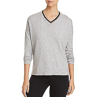 Donna Karan New York   Contrast V-Neck Sweater