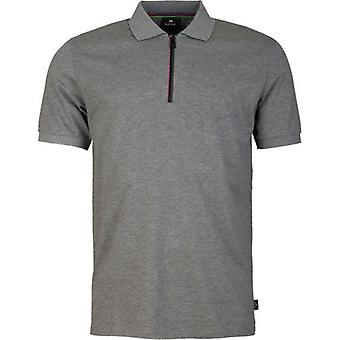 Paul Smith Stripe Zip Neck Polo Shirt