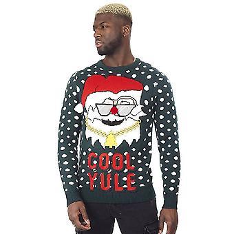 Brave Soul Mens Cool Yule Christmas Jumper