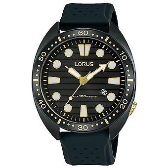 Lorus Sports Dress Watch z karbonizowaną kopertą z tytanu (model. RH927LX9)