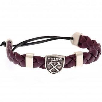 West Ham United FC Unisex aikuisten liukusäädin rannekoru