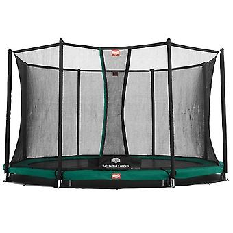 berg favorit inground 330 11ft trampoline green + safety net comfort