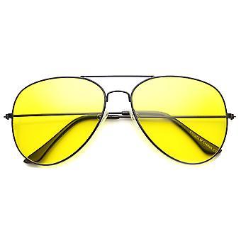 Unisex Aviator zonnebril met UV400 beschermd glazen Lens
