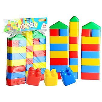 Stapel blokken speelgoed set - 28 blokken - Toren bouwen