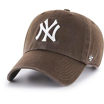 47 fire Adjustable Cap - CLEAN UP New York Yankees Brown