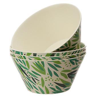 bambus kompositt willow bolle sett med 4 X 1 pakning