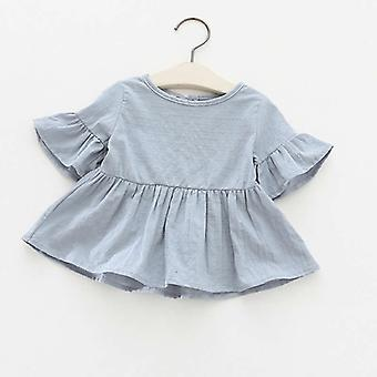 Summer Fashion Blouses, Lotus Leaf Short Sleeved Shirt Doll