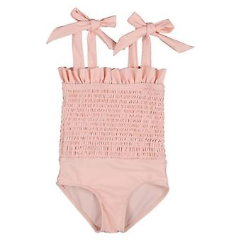 6m-5t Baby Girl Swimsuit Swimwear- Summer Rubber Band Bow Strap Bikini, Tankini