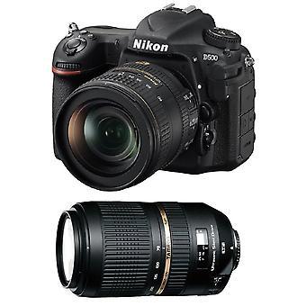 NIKON D500 KIT AF-S 16-80MM F2.8-4E ED VR + TAMRON SP 70-300mm F4-5.6 Di VC USD (A005NII) Nikon
