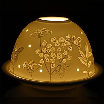 Nordic Lights Flower Tealight Candle Shade And Tray