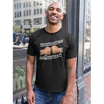 Talladega Nights Shake and Bake Checker Men's Black T-shirt