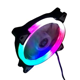 Desktop Computer Cooling Fan With Colorful Emitting Light Color (120x120x25mm )